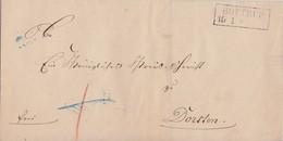 Preussen Brief R2 Bottrup 15.1. Gel. Nach Dorsten - Preussen