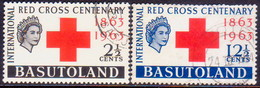 1963 BASUTOLAND SG 81-82 Compl.set Used Red Cross - 1933-1964 Crown Colony