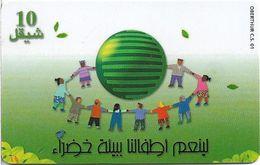 Palestine - Paltel (Chip) - Green Environment, 05.2000, Chip Oberthur, (Cn Below Printrun), 10U, 300.000ex, Used - Palestine