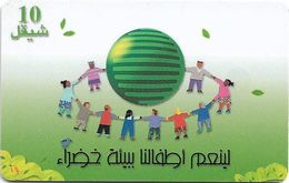 Palestine - Paltel (Chip) - Green Environment, 09.2000, Chip SC7, 10U, 400.000ex, Used - Palestina