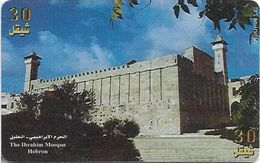 Palestine - Paltel (Chip) - The Abraham Mosque, Hebron, 08.1999, Chip Oberthur, 30U, 100.000ex, Used - Palestine