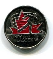 2006 Canada Cindy Klassen Colorized 25 Cent Coin - Canada