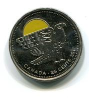 2011 Canada 'Bird' Colorized 25 Cent Coin - Canada