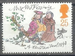 1993 25 Pence Christmas Carol No Gum - 1952-.... (Elizabeth II)