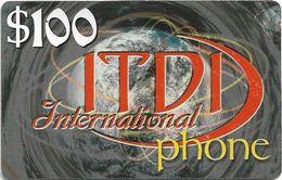 Palestine - ITDI - 100$ International Phone, Prepaid 100$, Mint/Unscratched - Palestine