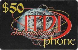 Palestine - ITDI - 50$ International Phone, Prepaid 50$, Mint/Unscratched - Palestina