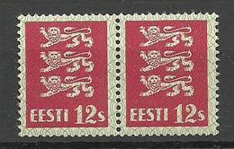 ESTLAND Estonia 1928 Michel 80 Thin Paper Type As A Pair MNH - Estland