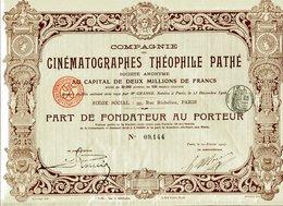 CINÉMATOGRAPHES THÉOPHILE PATHÉ - Cinéma & Théatre