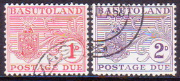 1956 BASUTOLAND SG D3-D4 Compl.set Postage Due Used - 1933-1964 Crown Colony
