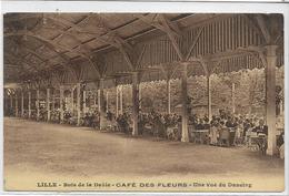 59 LILLE . Le Bois De La Deule , Café Des Fleurs , Le Dancing , édit : Veuve E Cailteux-Gorlier , écrite  , état Extra - Lille