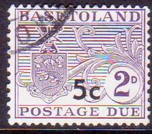 1961 BASUTOLAND SG D7a 5c On 2d Postage Due Used Type II CV £60 - Basutoland (1933-1966)