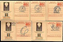 India 2018 Mahatma Gandhi Special Cancellation 5 Diff Megdhoot Post Cards # 7027 - Mahatma Gandhi