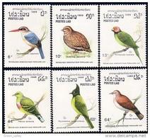 560 Laos Finlandia 88 Pigeons Pidgeons Perruches Parrots Perdrix Partridges MNH ** Neuf SC (LAO-33a) - Laos