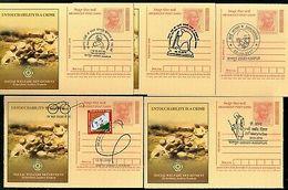 India 2018 Mahatma Gandhi Special Cancellation 5 Diff Megdhoot Post Cards #16063 - Mahatma Gandhi