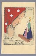 O.L.V. VAN VREDE B.V.O. CLAUDE HANDGEKLEURD PAINT A LA MAIN HANDPAINTED - Vierge Marie & Madones