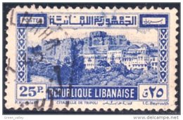 566 Liban 25p Chateau Croisade Crusader Castle Tripoli (LBN-56) - Liban