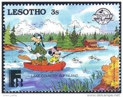 570 Lesotho Disney Peche Fishing MNH ** Neuf SC (LES-17d) - Holidays & Tourism