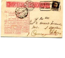 "PUBBLICITA'_ADVERTISING_REKLAM-CARTOLINA ""CROCIATA MISSIONARIA Vg DA ROMA A CUNEO IL 22.1.1932-Original 100% /AN3- - Advertising"