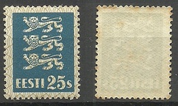 ESTLAND ESTONIA 1935 Michel 107 * A Bit Brownish Spots On Gum Side - Estonia
