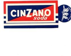 """PUBBLICITA'_ADVERTISING_REKLAM-SEGNALIBRO """"CINZANO SODA E LIFE SAVERS MOTTA""""PEP.O.MINT.-LE CARAMELLE-Original 100% /AN3- - Advertising"""
