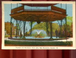 Saint John : Fountain And Bandstand - St. John