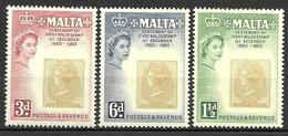 Malta 1960 - Centenaryof Malta's First Stamp - Malta