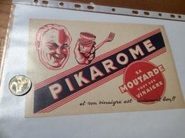 Buvard «PIKAROME - MOUTARDE» - Mostard