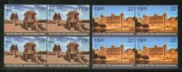 India 2018 Holiday Destinations City Palace Udaipur Stone Chariot Hampi BLK4 MNH - Holidays & Tourism