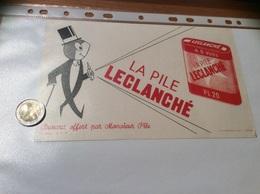 Buvard «LA PILE LECLANCHÉ» Type 1 - Electricidad & Gas