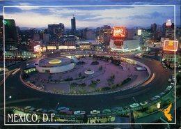 CPM - Mexico : Vue Partielle La Nuit - Mexico