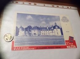 Buvard «LA PILE MAZDA - N°4 TANLAY Grand Château Yonne» - Electricité & Gaz