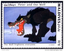 612 Iles Maldives Disney Peter Wolf Pierre Loup Prokofiev MNH ** Neuf SC (MLD-82b) - Music