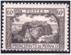 630 Monaco YT 59 1922 60c Gris-noir Rocher MH * Neuf Charnière Légère (MON-17) - Monaco