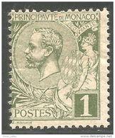 630 Monaco YT 11 1c Olive 1891 MH * Neuf (MON-52) - Monaco