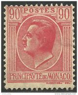 630 Monaco YT 94 Prince Louis II 90c Rose MH * Neuf (MON-79) - Monaco