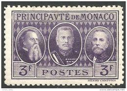 630 Monaco YT 113 Exposition Philatélique 3f MH * Neuf (MON-85) - Monaco