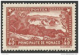 630 Monaco YT 123 Rocher 45c MH * Neuf (MON-89) - Monaco