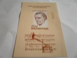 Miniature Sheet Imperf 100 Year Anniversary Kodaly Zoltan - Hungary