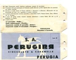 "PUBBLICITA'_ADVERTISING_REKLAM-"" S. A.  PERUGINA "" CIOCCOLATO E CARAMELLE-PERUGIA-Original 100% /AN3- - Pubblicitari"