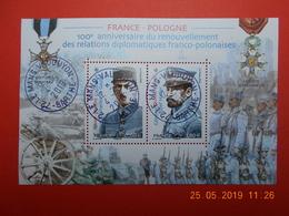 FRANCE 2019   Feuillet  FRANCE-POLOGNE 100eme Ann.Relations Diplomatiques   Beaux Cachest  Ronds Sur Timbres Neufs - France