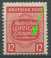 SBZ West-Sachsen Musterschau Leipzig Mit Plattenfehler 125 Y III Postfrisch - Sowjetische Zone (SBZ)