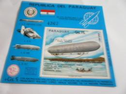 Miniature Sheet Perf Zeppelin - Paraguay
