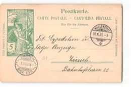 17470 CARTE POSTALE JUBULE DE L'UNION POSTALE UNIVERSELLE HELVETIA WALLENSTADT TO ZURICH - Entiers Postaux