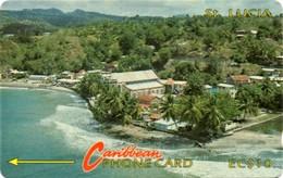 *IS. ST. LUCIA: 7CSLA* - Scheda Usata - Saint Lucia