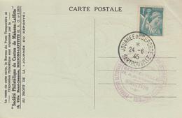 Carte  FRANCE   Journée  Du   Déporté    SARTROUVILLE   1945 - Cachets Commémoratifs