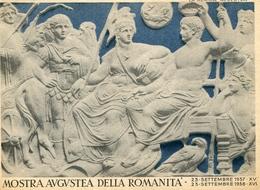 "PUBBLICITA'_ADVERTISING_REKLAM-""MOSTRA AUGUSTEA DELLA ROMANITA'23.SETT.1937-23.SETT.1938-BANCO Di NAPOriginal 100% /AN3- - Advertising"