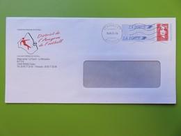PAP - Entier Postal - Marianne Du Bicentenaire - Repiquage FFF - District De L'Aveyron De Football - 2001 - Postal Stamped Stationery