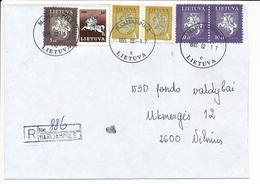 Registered Commercial Cover - 17 February 1995 Marijampolė - Lituania