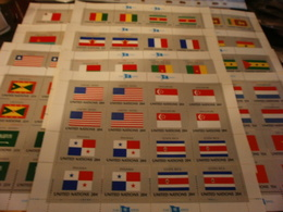 UN United Nations Flag Series 12 Sheets Of 16 Stamps Per Sheet - Stamps