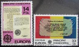EUROPA            Année 1982         ANDORRE ESP.          N° 146/147             NEUF** - Europa-CEPT